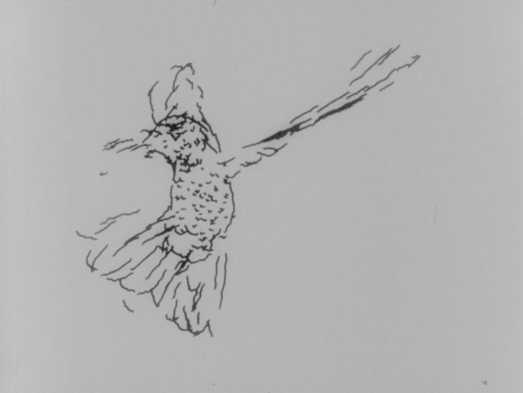 Arte digital Charles Csuri Hummingbird