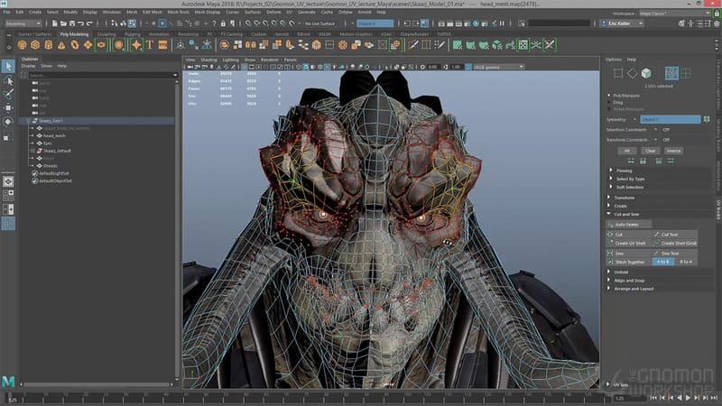 Diseño personajes 3D Autodesk Maya